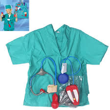 girls boys halloween costumes surgeon sets doctor cosplay stage