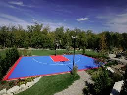 Backyard Pool And Basketball Court Outdoor Basketball Court Tile For Backyard Courts