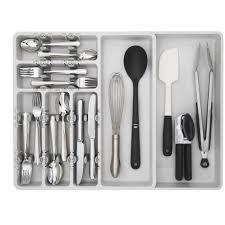 organizer utensil organizer cabinet drawer inserts wood