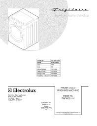 fafw3511kw0 frigidaire company appliance parts