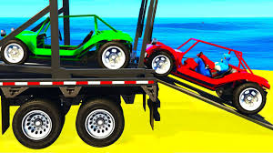 funny small cars transportation and spiderman cartoon for kids
