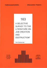 a selective survey to the literature on job creation and destruction