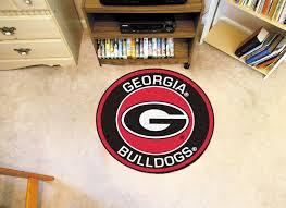 Georgia Bulldog Home Decor of georgia bulldogs logo roundel mat 27