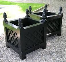 Black Planter Boxes by These All Weather Planters Are Classic And Can Be Used Year Round