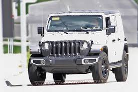 jeep gray wrangler next jeep wrangler spied nearly undisguised automobile magazine