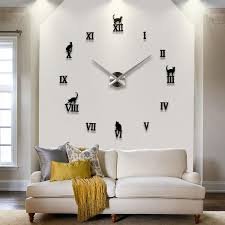 Wall Clock For Living Room by 3d Real Big Quartz Clocks Fashion Watches Wall Clock Kit Rushed