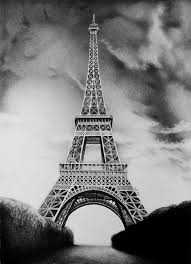 drawn eiffel tower pencil drawing pencil and in color drawn