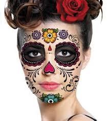 amazon com flower sugar skull makeup temporary