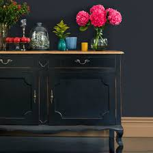 oak sideboard distressed black