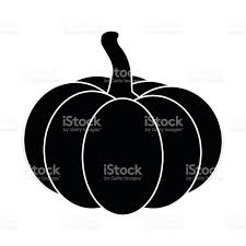 halloween pumpkin silhouette vector illustration isolated on white
