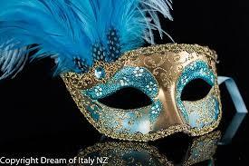 feather mask venetian masquerade feather mask colombina ciuffo can can gold aqua