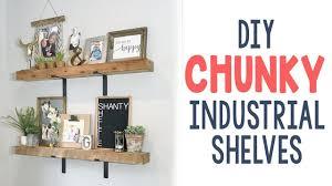 Industrial Bookcase Diy Diy Chunky Industrial Shelves Youtube
