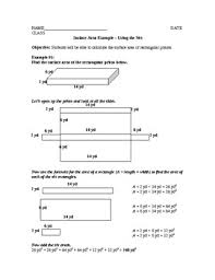 surface area of rectangular prisms lesson plan by square root lessons