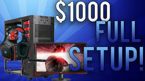 Best Pc Gaming Setup by Best Gaming Pc Under 1000 Full Setup July 2017 Full Gaming