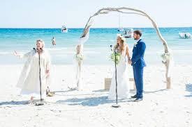 Beach Wedding A Chic Beach Wedding In The South Of France