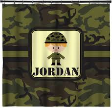 green camo shower curtain personalized potty scotty cute camo