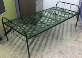 Metal Folding Bed 6 X 2 5 Black Iron Folding Bed Rs 3000 Rolex