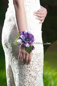 Wedding Wrist Corsage Purple Wrist Corsage