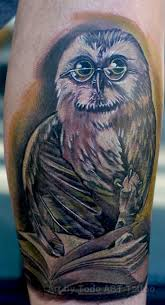 tattoos of books and owls more information