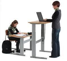conset electric height adjustable sitting standing desk 501 27