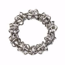 sterling bracelet clasp images Lattis bracelet with custom clasp in sterling silver with black jpg