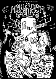 halloween alley poster black and white by badeyedeers on deviantart