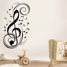 Wholesale Wall Decor Creative Ideas Music Notes Wall Decor Peaceful Inspiration Online