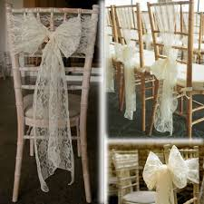 lace chair sashes 100pcs top quality ivory lace chair sash for wedding event party