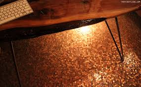 floor in tile floors using copper coins as mosaic tiles homeli