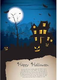 Vector Halloween Poster Template With Empty Grunge Paper Vector