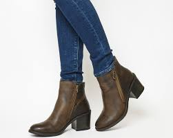 womens ankle boots uk size 9 womens archway side zip boot brown leather ankle boots uk size 9