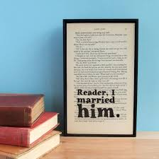 wedding quotes eyre eyre wedding gift quote on vintage book page by wallenvyart