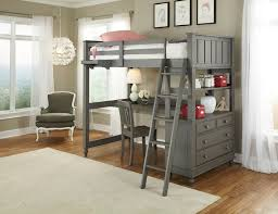 Loft Bed With Desk On Top Steinhafels Sedona Twin Over Twin Loft Bed With Desk And Chairs