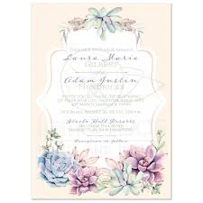 succulent wedding invitations pastel wedding invitation watercolor succulents garden