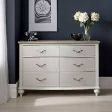 Grey Oak Furniture Tuscany Grey Washed Oak U0026 Soft Grey 6 Drawer Wide Chest