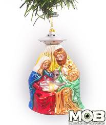 nativity glass ornament middle of beyond
