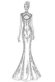 design dress wedding dress modern design pencil and in color