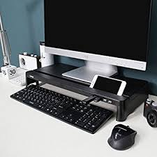 bureau avec ordinateur intégré cyanics i bridge mc 300 support multimédia pour moniteur et