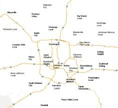 Map Of Dublin Ohio by Central Ohio Districts Map