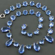 blue glass necklace vintage images Blue czech glass necklace carus jewellery jpg