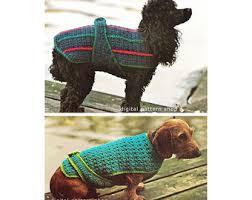 crochet pattern for dog coat diy crochet dog sweater crochet and knit