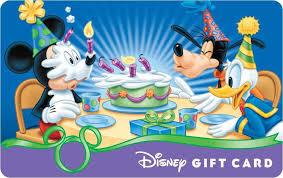 image happy birthday disney gift card mickey goofy donald