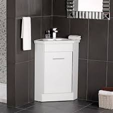 The Naeva Corner Vanity Unit White Gloss With Basin  X Cm Is A - Corner sink bathroom cabinet