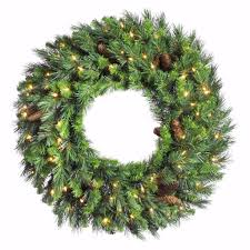 amazon com vickerman pre lit cheyenne pine wreath with 100 clear