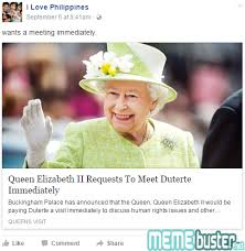 Queen Elizabeth Memes - queen elizabeth ii called duterte a brave man here are other made