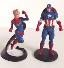 captain america cake topper disney store captain america and captain marvel figurine cake