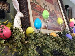 Tuscan Home Accessories Ideas Happy Easter With Lovely Easter Decor On The Mantel