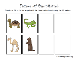desert animal printables teaching mama