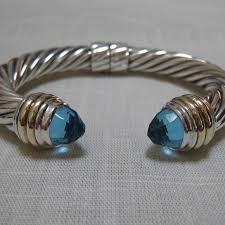 silver gold bracelet images David yurman jewelry 10mm blue topaz silver gold bracelet poshmark jpeg