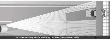 led intelligent light system multibeam led light technology by mercedes benz